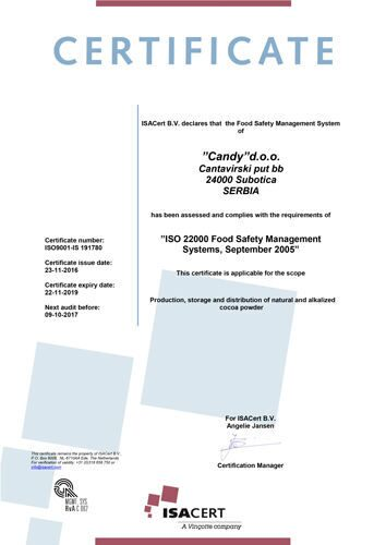 Candy-ISO-certificate-22000-2005