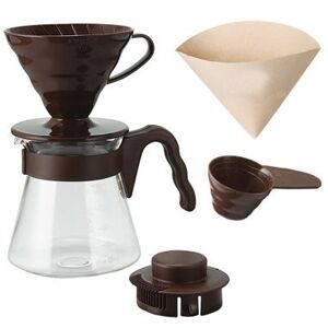 Hario V60 Pour Over Kit brown VCSD-02CBR