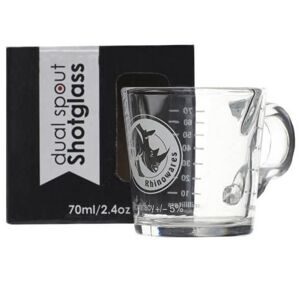 Rhinowares Coffee Shot Glass - Double Spout